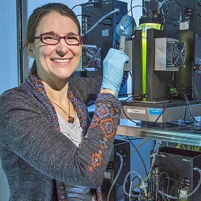 Amanda Barry of Los Alamos's Bioenergy & Biome Sciences group