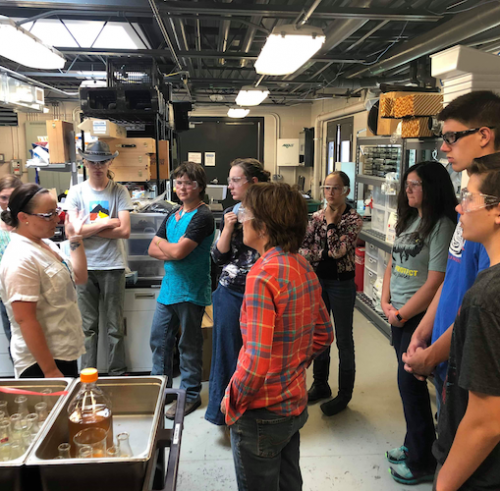Students tour NMC Biolab