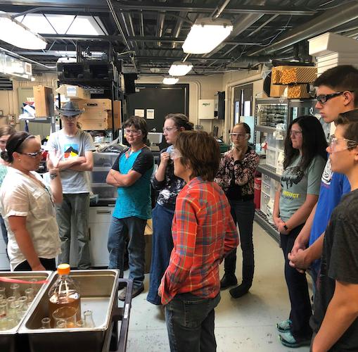 Students tour NMC Biolab