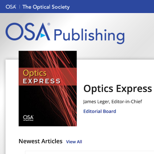 Azzurra Volpi and Markus Hehlen recently published a paper in Optics Express