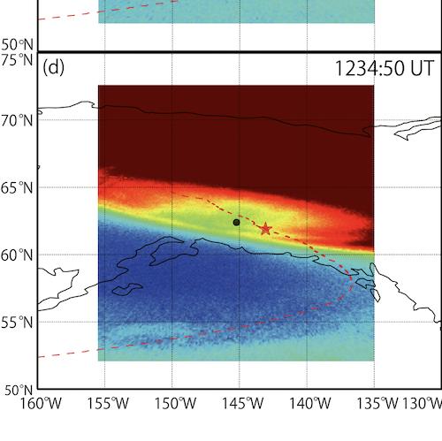 Red aurora in magnetosphere